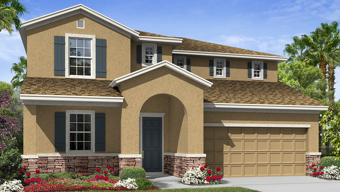 Park Creek The Windsor 2,766 square feet 4 bed, 3.5 bath, 3 car, 2 story Riverview Fl