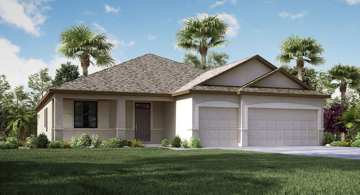 South Fork  The Lancaster  2,421 sq. ft. 4 Bedrooms 3 Bathrooms 3 Car Garage 1 Story Riverview Florida 33579