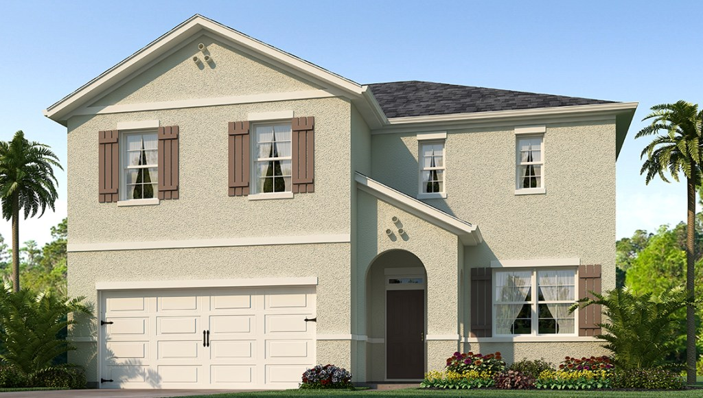 Park Creek The Galen 2,432 square feet 4 bed, 2.5 bath, 2 car, 2 story Riverview Florida