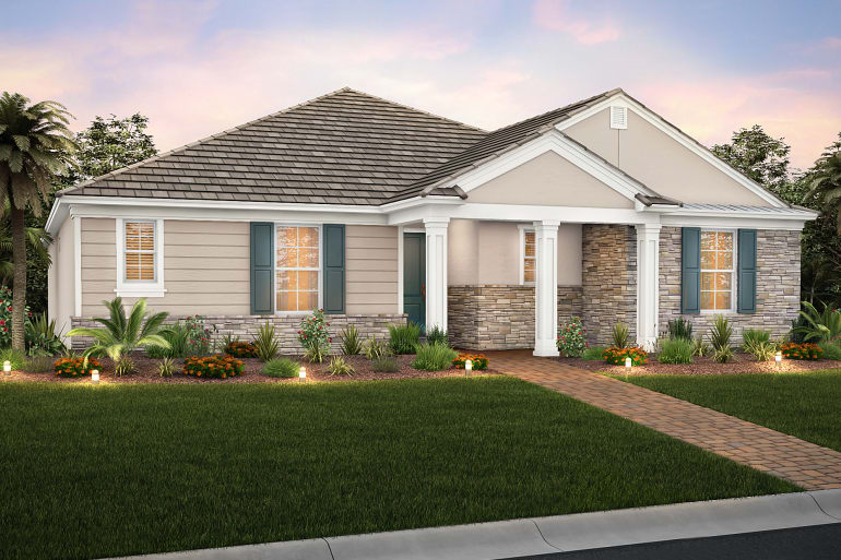 New Homes by  DiVosta – Cobblestone Floorplan Mallory Park At Lakewood Ranch