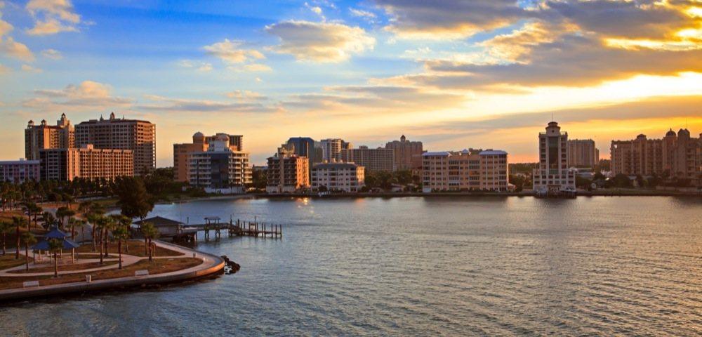 Sarasota Florida Skyline & New Condominiums