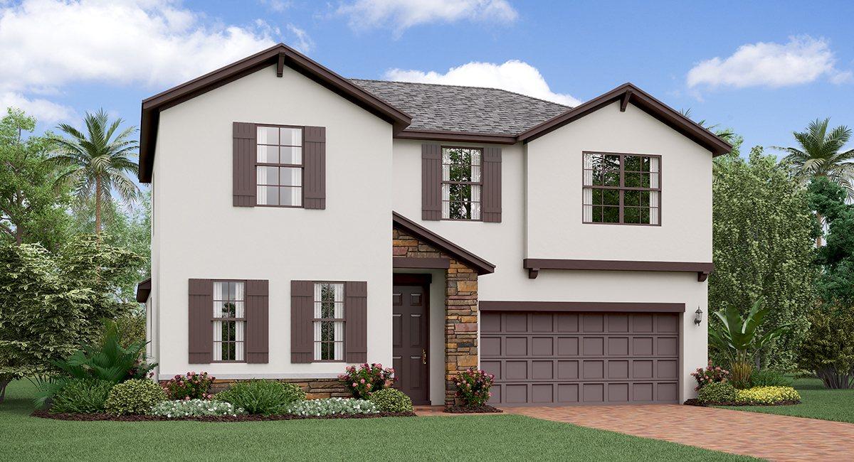 The Rhode Island  Model Tour Lennar Homes Tampa Florida