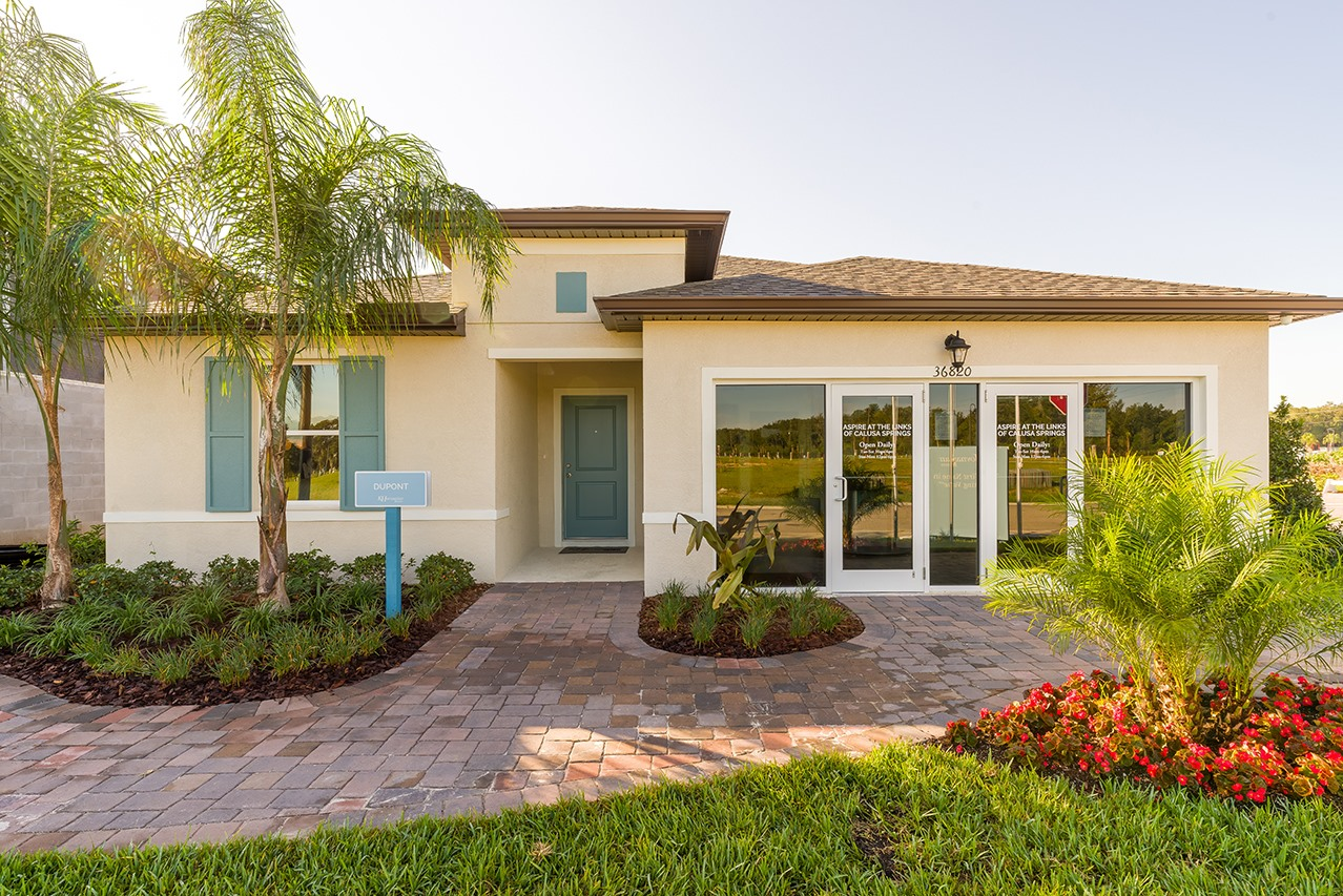 Aspire at the Links of Calusa Springs New Home Community Zephyrhills Florida