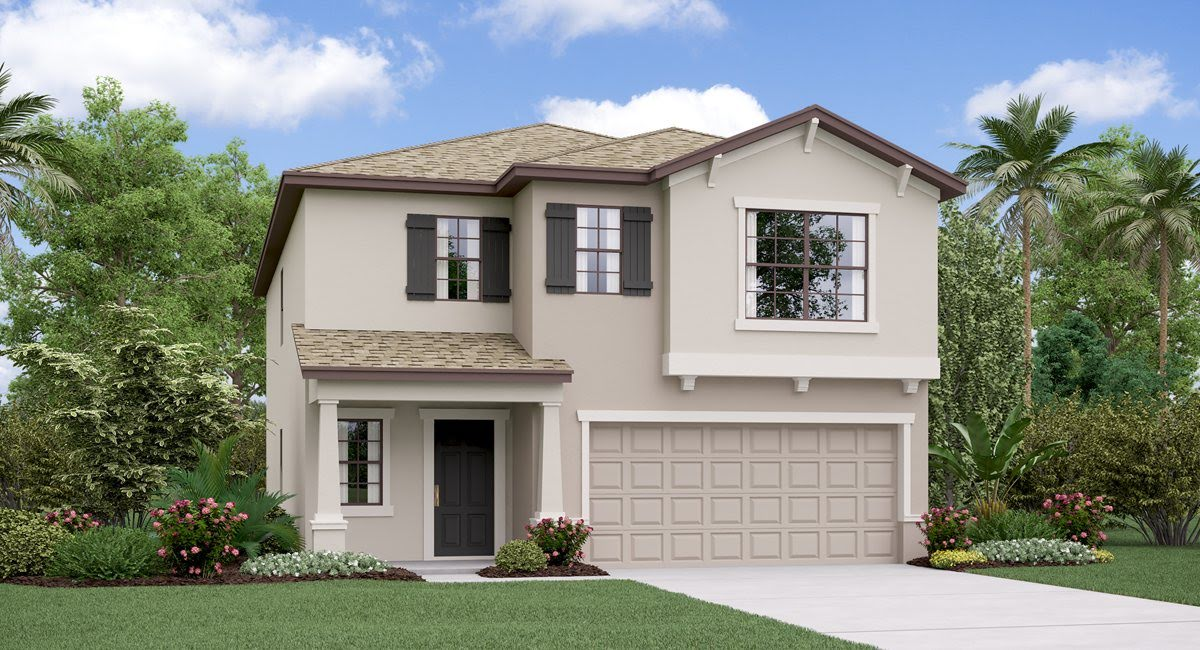 The Concord Model Tour Hawthorne Meadows Lennar Homes Gibsonton Florida