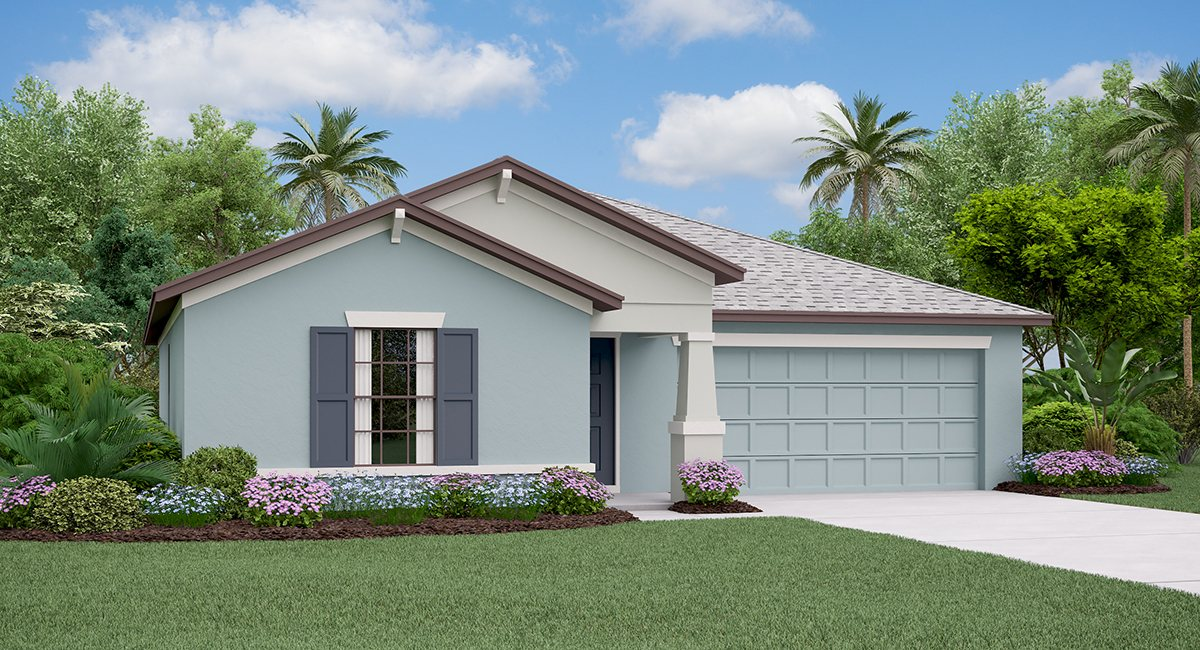 The Dover Model Tour Hawthorne Meadows Lennar Homes Gibsonton Florida