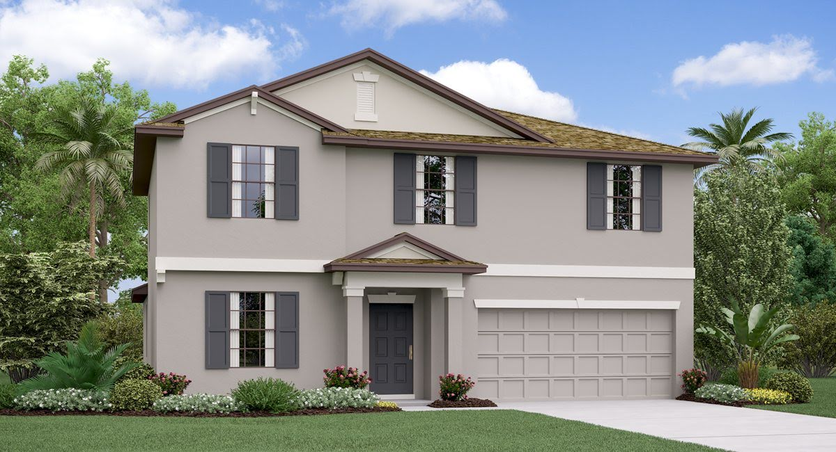 The Raleigh Model Tour Epperson Manor Lennar Homes Wesley Chapel Florida
