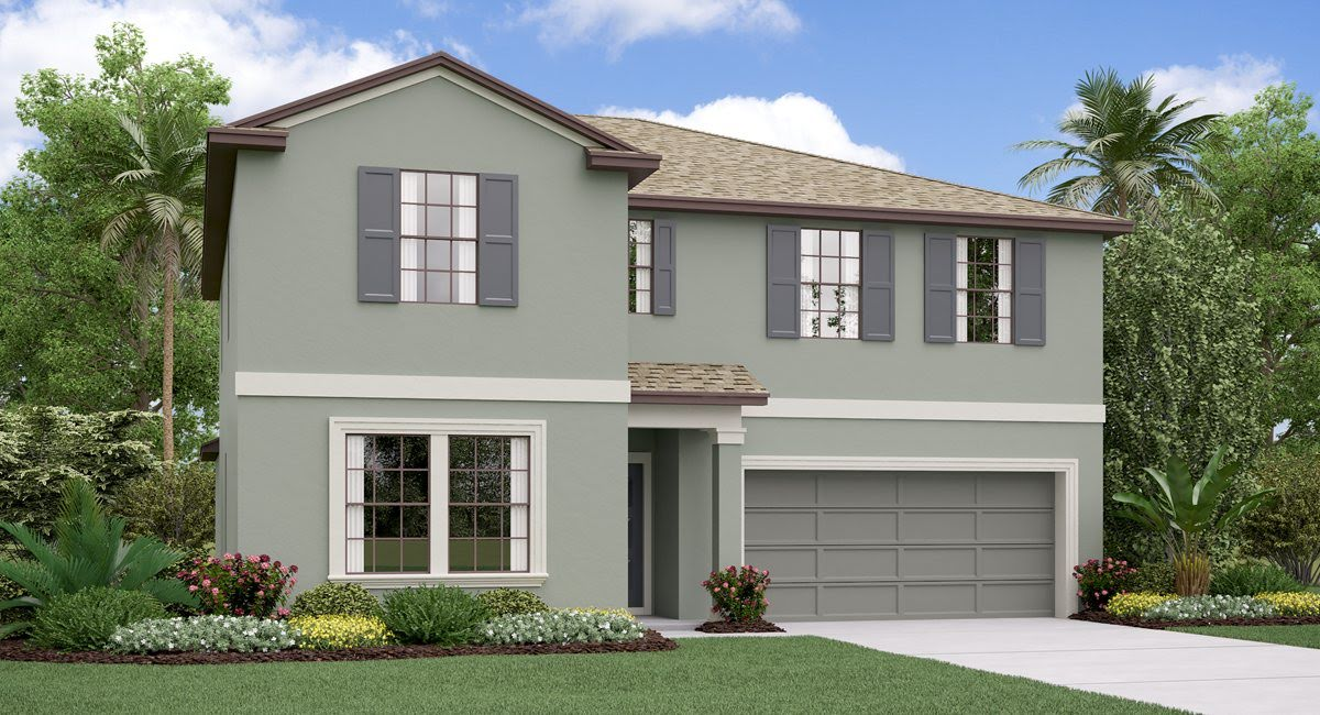 The  Trenton Model Tour Creek Preserve Lennar Homes Wimauma Florida