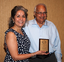 "Ken Kotecha receives OLLI ""Roll of Honor"" plaque"