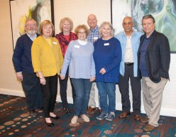 Members of the TBGBC Board of Directors joined in thanking the attendees for their participation and continued support. Shown (from left): George Hyde, Linda Feeney, Anne Strozier, Sara Cohen, Tom Walker, Barbara Brown, Mark Simo, and Patrick DeMarco.