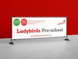 Ladybirds Preschool Large Banner
