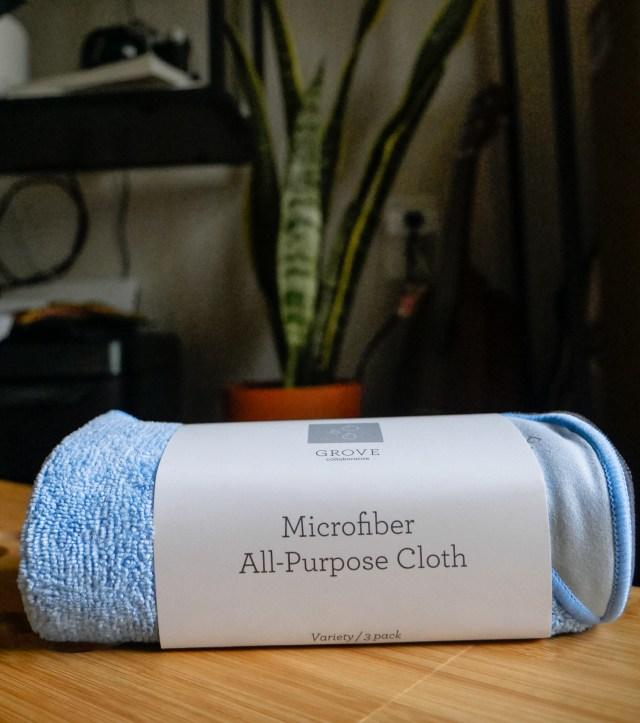 Microfiber All-Purpose Cloths by Grove Collaborative.