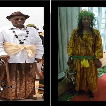 Sanja et  kaba ngondo: Tenue  traditionnelle du peuple Sawa Cameroun.