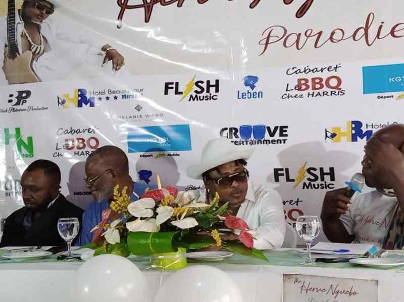 """Face à la presse, Herve Nguebo présente son nouvel album """"Parodie d'Amour"""""""