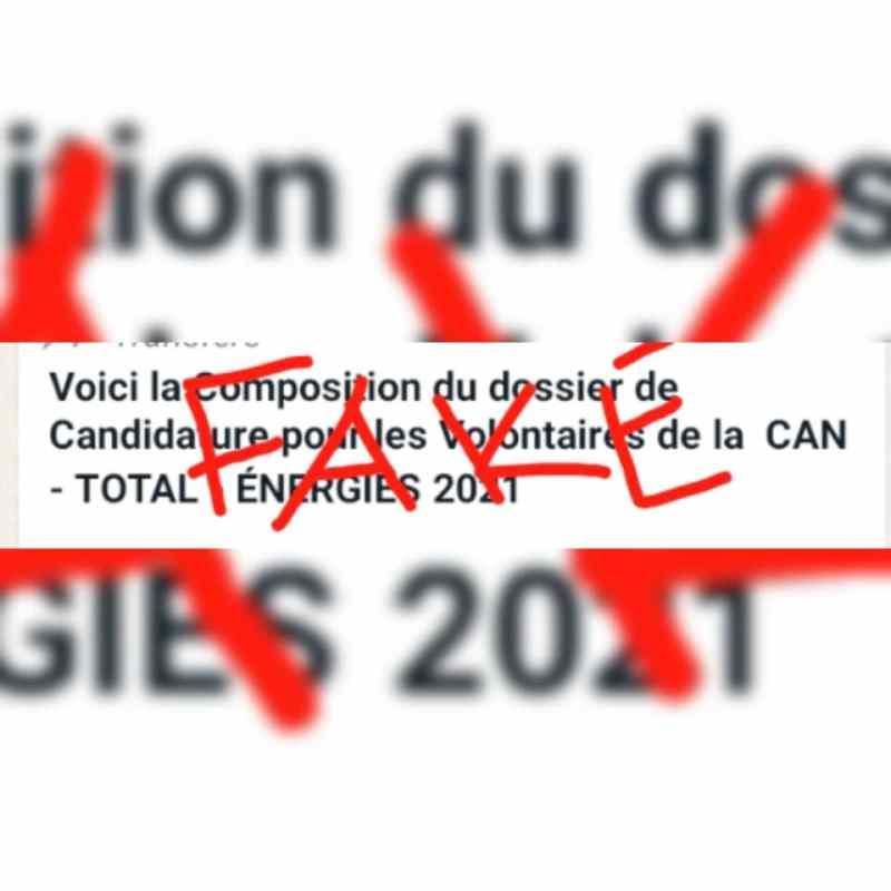 Non, la Cocan ne recrute pas encore les volontaires de la CAN Total -Energies 2021