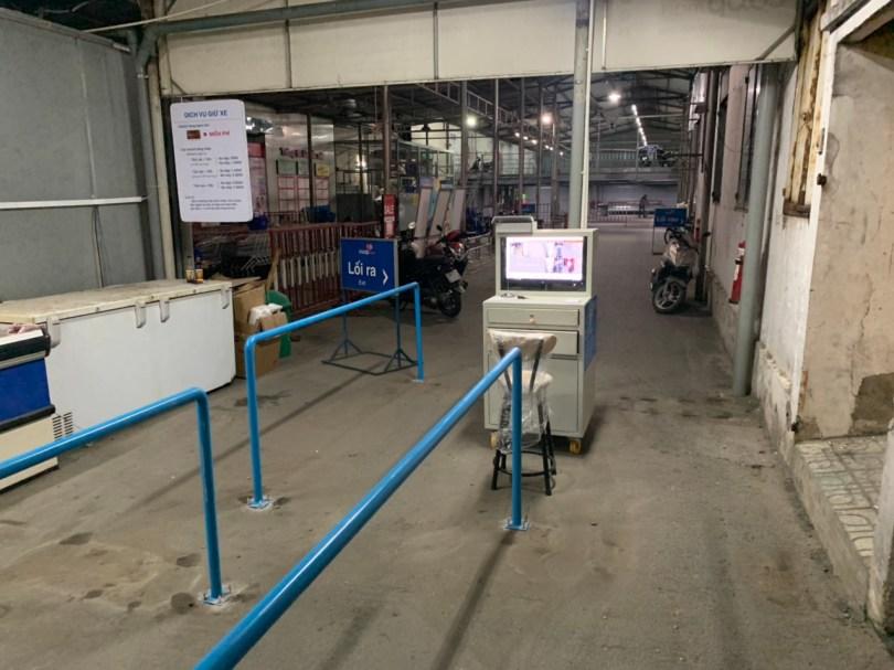 Công trình máy giữ xe thông minh tại Siêu thị Co.opmart Phan Văn Trị. 1