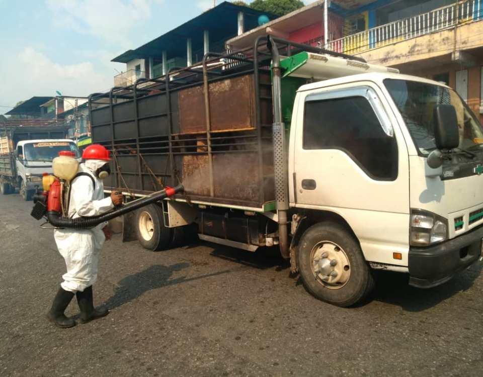 Desinfección en espacios públicos y pasos vehiculares se realizó en zona Panamericana