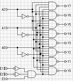 Plz give circuit diagram of 3 to 8 decoder?