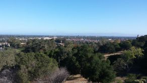 View from near the Student Observatory at Stanford, with Mount Diablo in the distance. It was so clear, you could see Mount Tam, too.