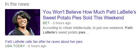 Pattie LaBelle Pie