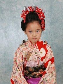 日本風の髪型