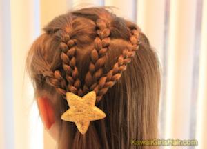入学式の女の子の三つ編みの髪型 5