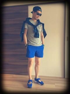 ネイビーリネンシャツのメンズの夏コーデ 7