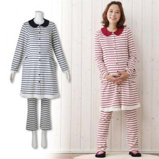 マタニティパジャマと通常のパジャマの違い2(長めの着丈)