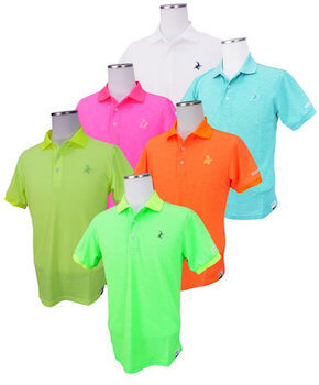 メンズに人気のポロシャツの色 蛍光色