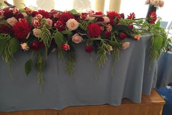 結婚式の装花~カフェを営む元スタッフの結婚パーティー~