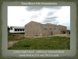 Additional classroom block being built from funds raised by PTA and Tana River Life Foundation