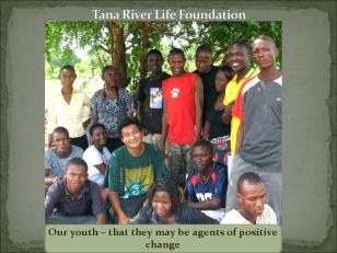 The youths sponsored by Tana River Life Foundation