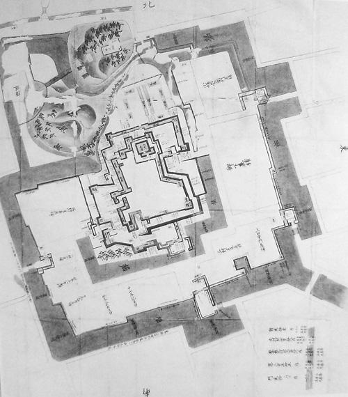 備後福山城絵図(水野中期:個人蔵)
