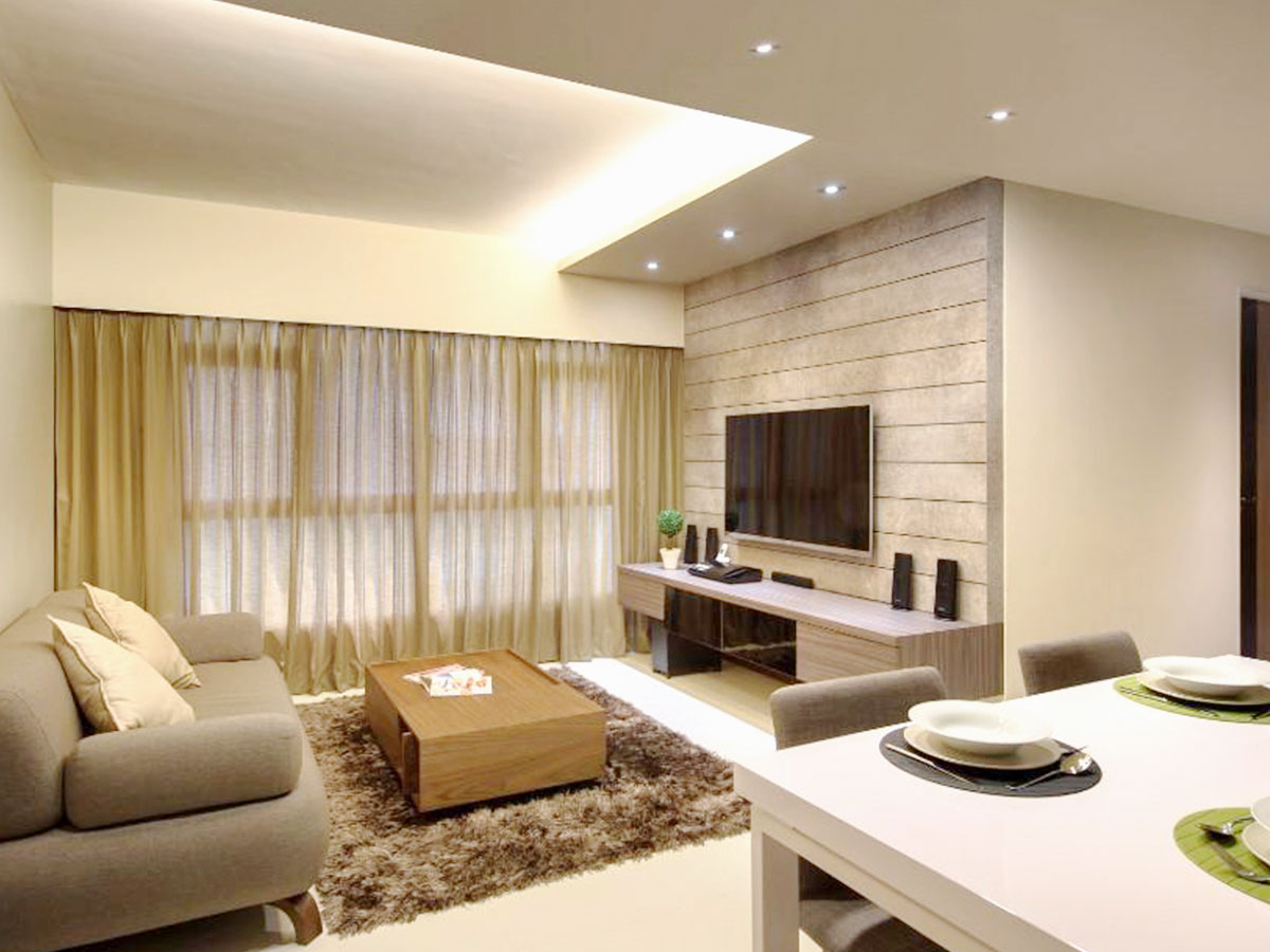 Feature Wall And TV Console Carpentry Designs