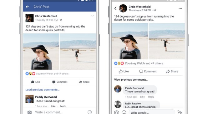 Facebook Inc. redesigns its App for readability