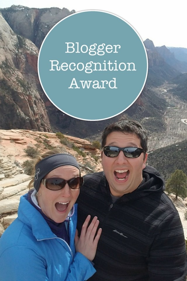 I was nominated for the Blogger Recognition Award!