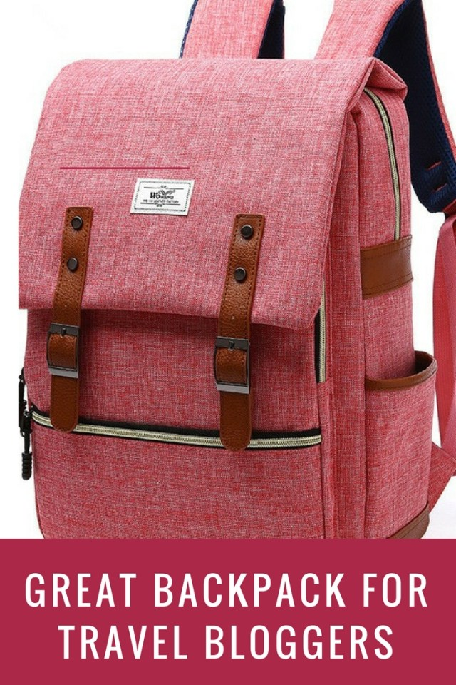 A great backpack for female travel bloggers