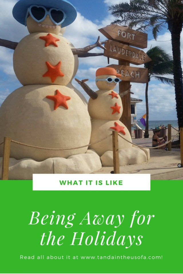 What it is like being away in Florida for the holidays