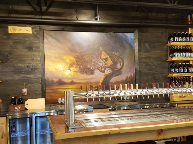 tap room at Tree House Brewing in Charlton Ma