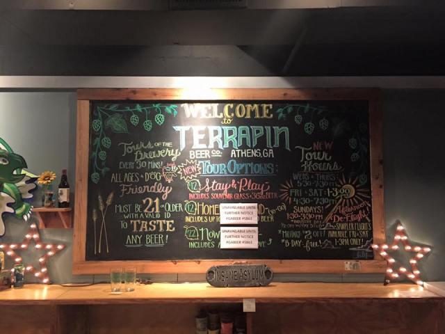 Terrapin beer menu