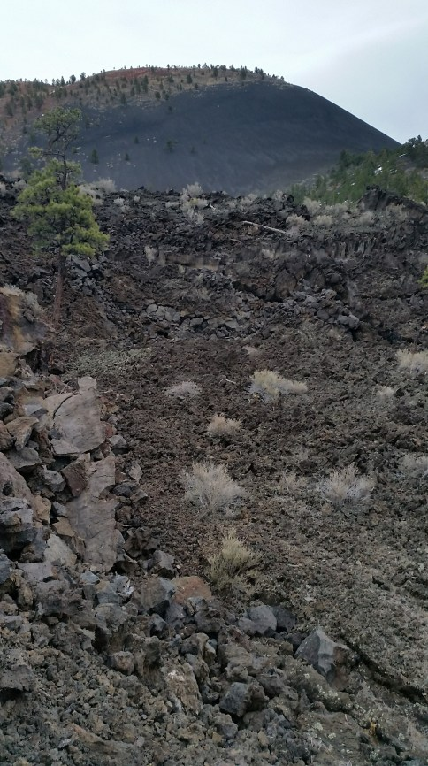 Lava flow trail at Sunset Crater