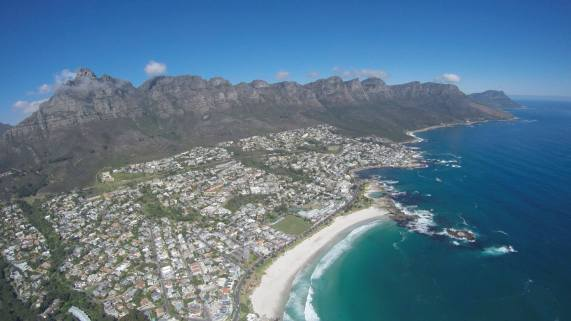 camps bay and 12 apostles from the air