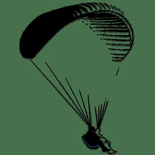 Cropped tandem paragliding cape the tandem - Parapente dessin ...