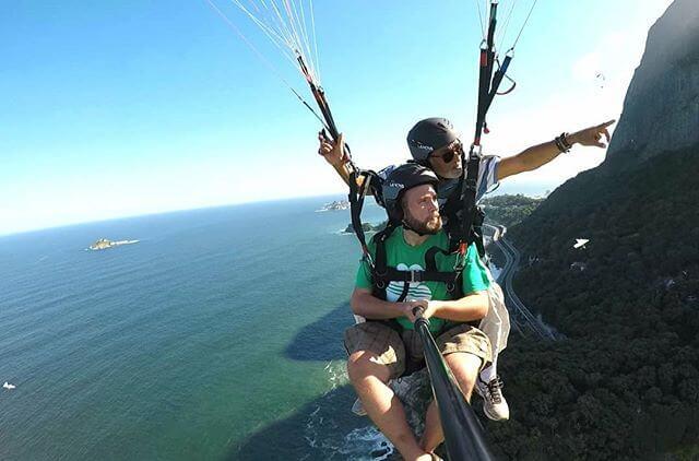 Pedra Bonita tandem flight rio paragliding