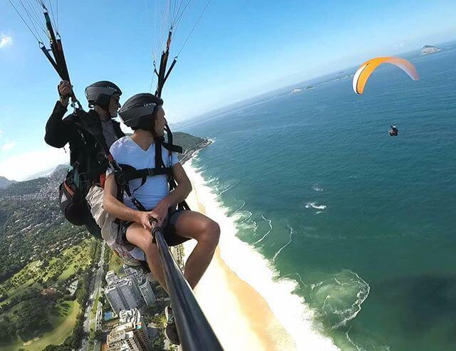 Sao Conrado beach tandem flight paragliding