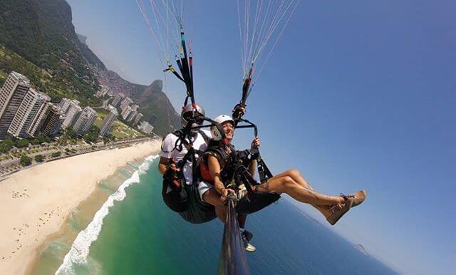 Voo Duplo de Parapente no Rio de Janeiro con Mahmoud