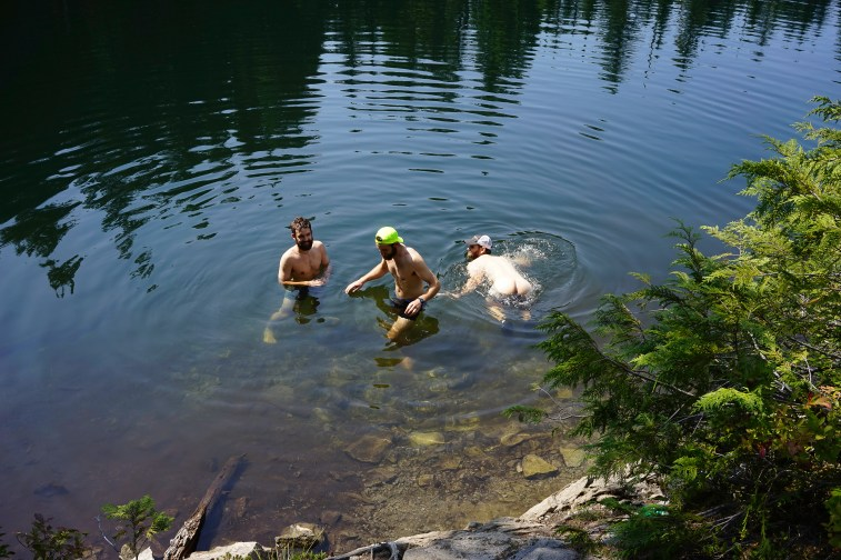 Swimming at Golden Ponds on the Wonderland Trail