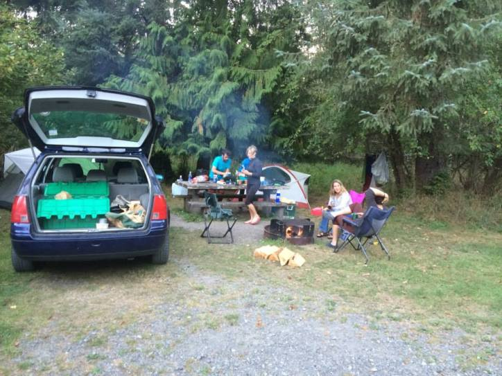 Car camping at Lake Ozette