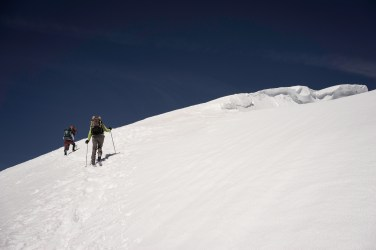 Heading up to the true summit.