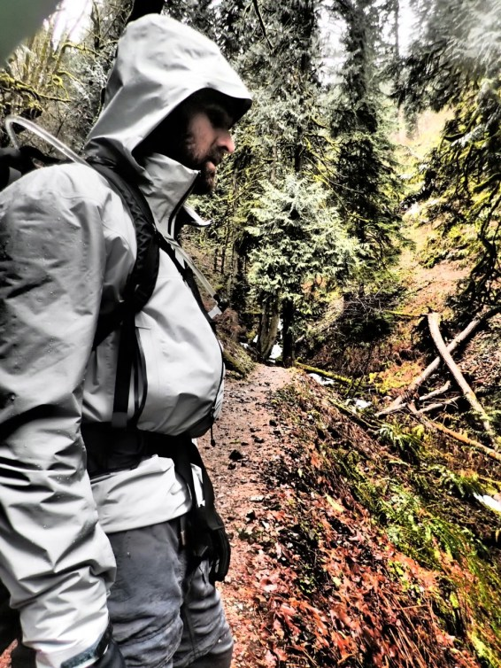 Hiking in the Columbia River Gorge.