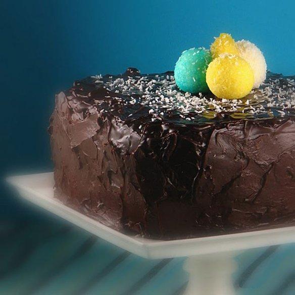 Caribbean blue layer cake